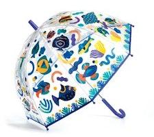 Paraply med fiskar ändrar färg