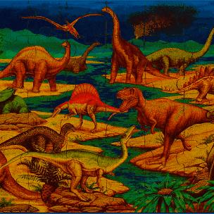 Golvpussel - dinosaurier