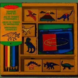 Stämpelset dinosaurier