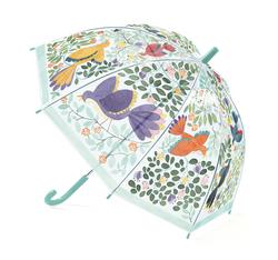 Paraply, blommor & fåglar