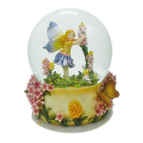 Glitter globe flower fairy