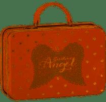 Metal Suitcase, Rose w. gold stars