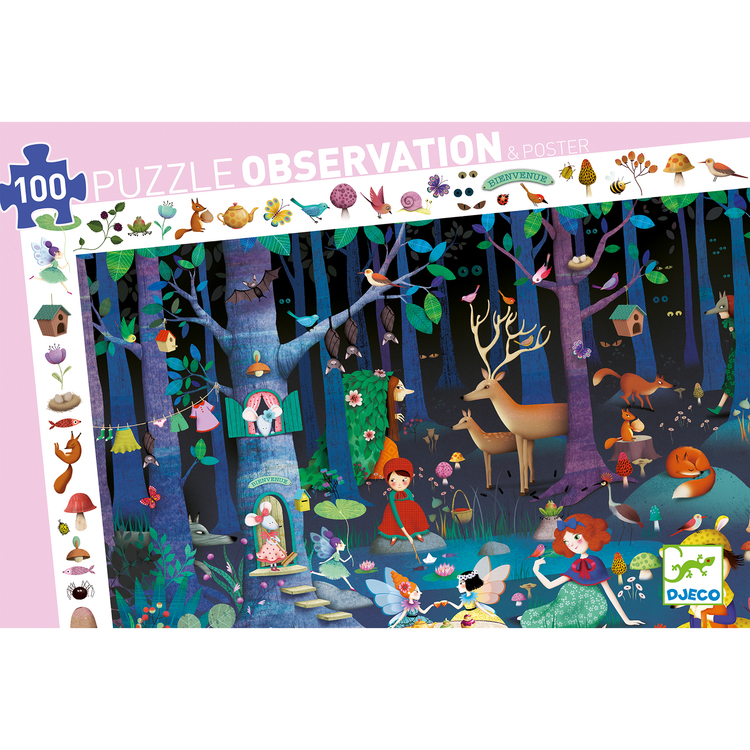 Observation puzzle, Enchanted forest 100 bitar