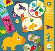 Dinosaurs, memory, domino, bingo