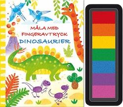 Måla med fingeravtryck : Dinosaurier