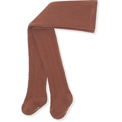 Konges Slöjd - Pointelle stockings (Mocca)