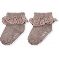 Kongesslöjd - Lace socks lurex