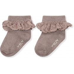 Konges Slöjd - Lace socks lurex (Hazel)