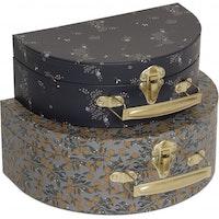 Kongesslöjd Luggage Round 2-pack (Orangery blue/Nostalgie blue)