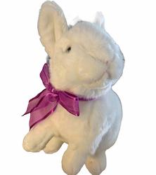 Kanin stående med rosett