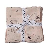 Burp cloth 2-pack Sea friends