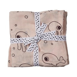 Burp cloth 2-pack Sea friends