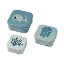 Snack box 3-set Sea Friends - Done by Deer 2 olika
