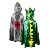 Dragon/Knight vändbar Cape