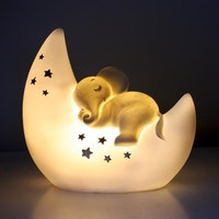 Over The Moon Elephant Table Lamp