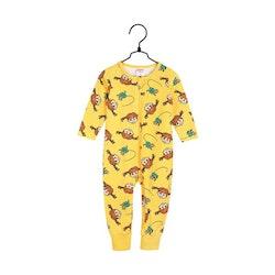 Pippi Långstrump Flätor-pyjamas gul