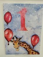 Födelsedagskort 1 år, My Feldt
