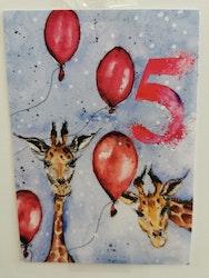Födelsedagskort 5 år, My Feldt