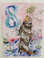 Födelsedagskort 8 år, My Feldt