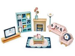 Dockhusmöbler vardagsrum