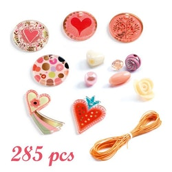 Pärlor i ask 285st - Hjärta