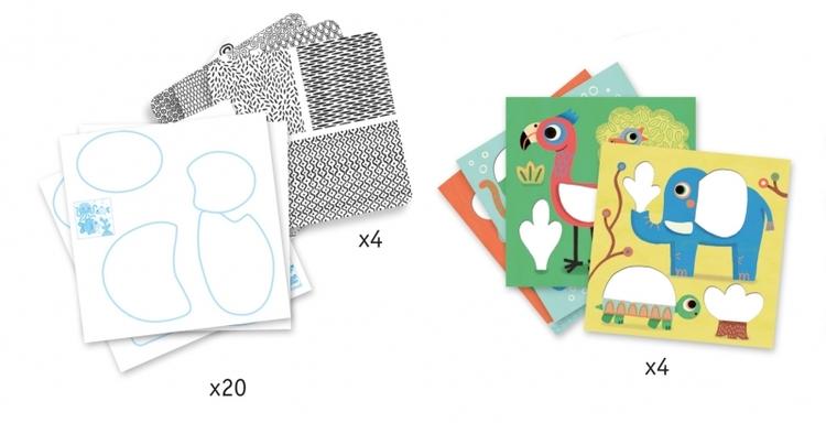 Ritpaket med mönster och djur