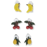 Kongeslöjd 3 PACK EAR CLIPS - FRUIT