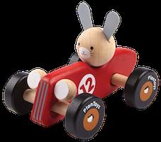 Racerbil med kanin