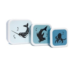Snacksboxar 3-set (havsdjur)