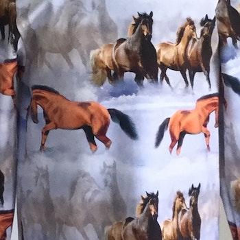 351 T-shirt Hästar på ljusblå botten