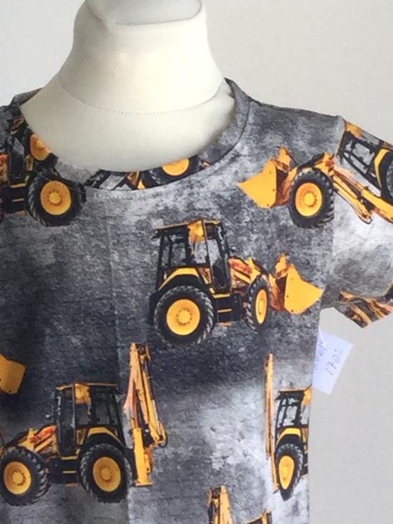 503 T-shirt Gul grävare på grå botten
