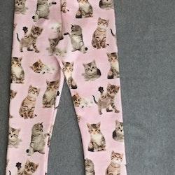 402 Leggings Katt på rosa botten