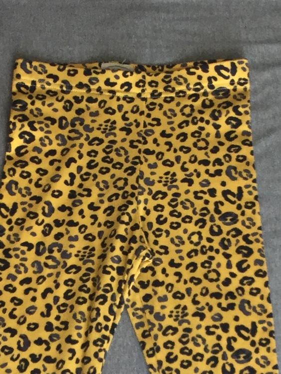 404 Leggings Tigermönstrad gul botten