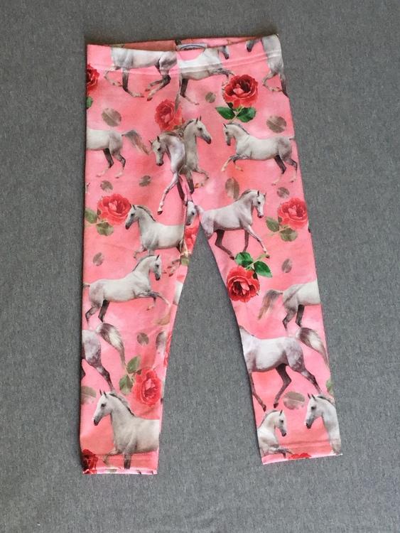 412 Leggings Hästar med rosor