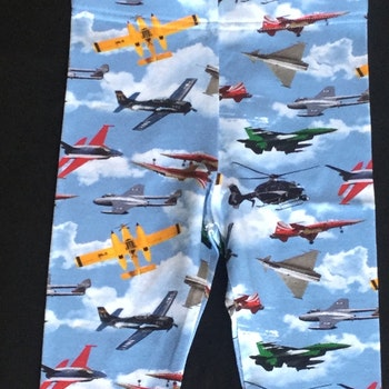 605 Leggings Flygplan på blå botten