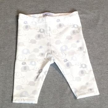 826 Leggings Elefanter på vit botten
