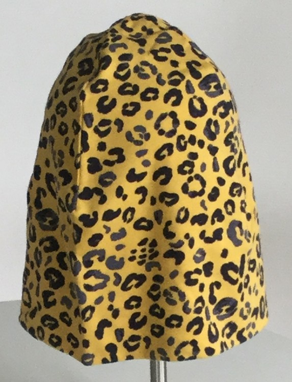 Tigermönstrad gul botten