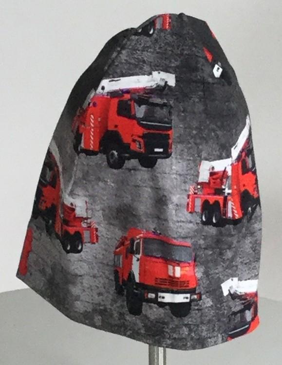 Brandbilar grå botten