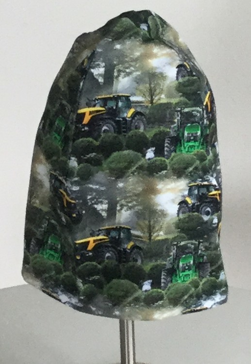 Traktorer grön botten