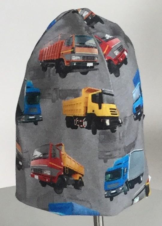 Lastbilar grå botten
