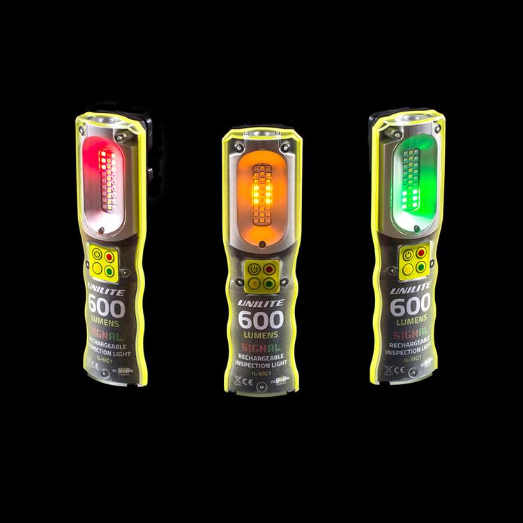 UNILITE IL-SIG1, Inspektion- Signallampa Laddbar, 600 LM