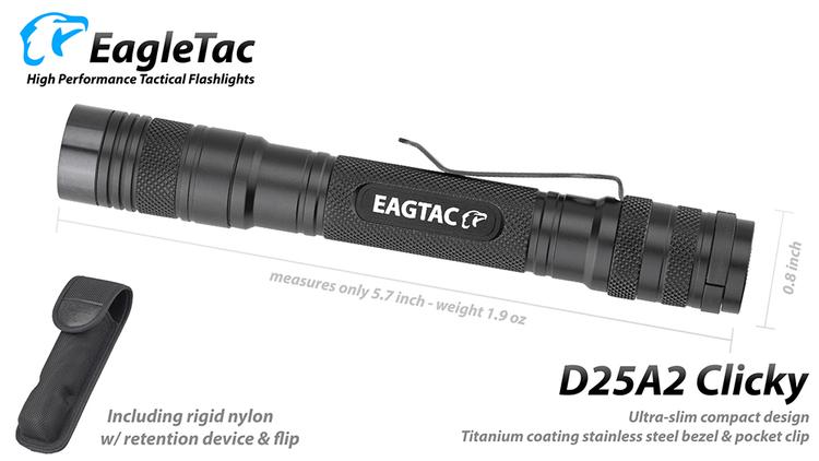 EAGTAC D25A2 2xAA, 436 Lumen