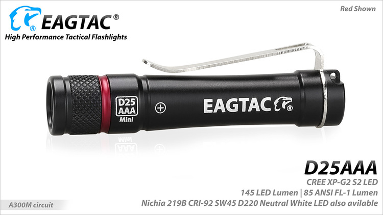 EAGTAC D25AAA 1AAA, 155 Lumen