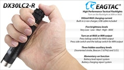 EAGTAC DX30LC2-R 1160 LM USB