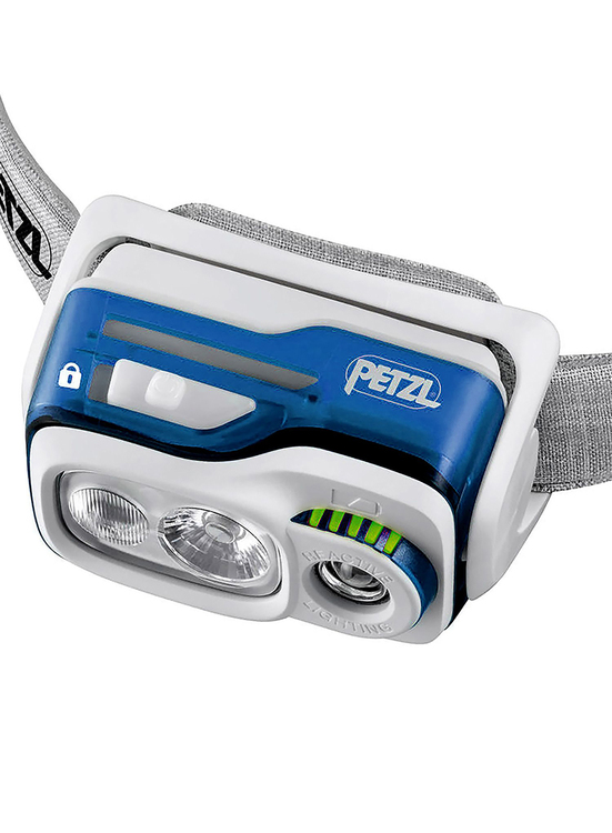 Petzl SWIFT RL Blå, 900 Lumen
