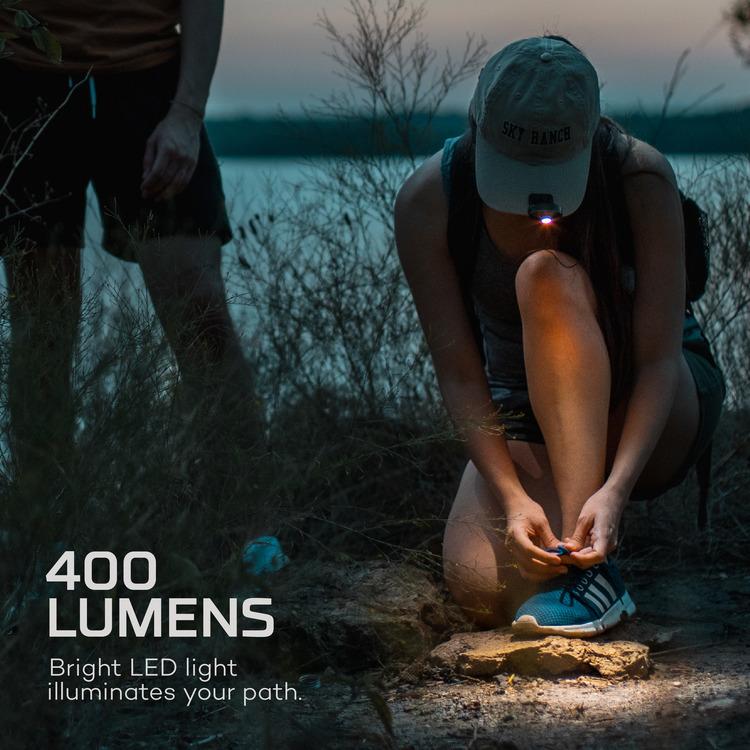 NEBO Mycro pannlampa/Kepslampa, 400 Lumen