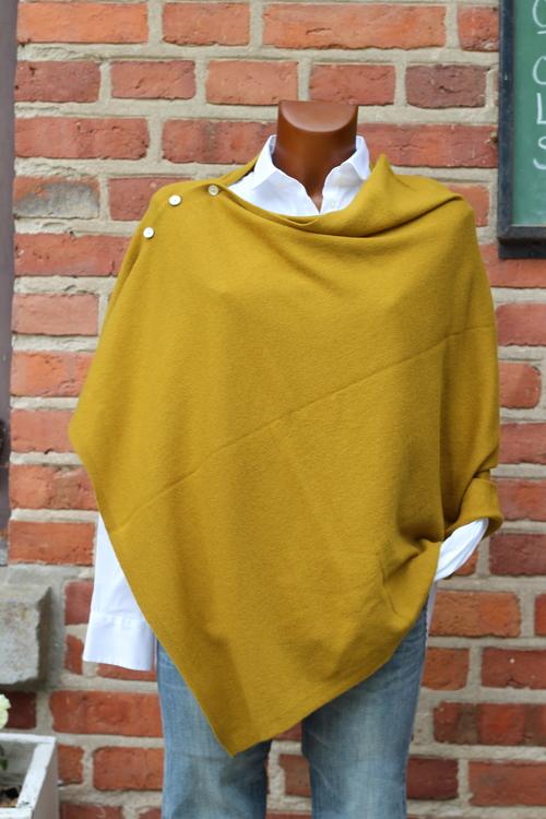 Brilliant cashmere poncho, flera färgställningar
