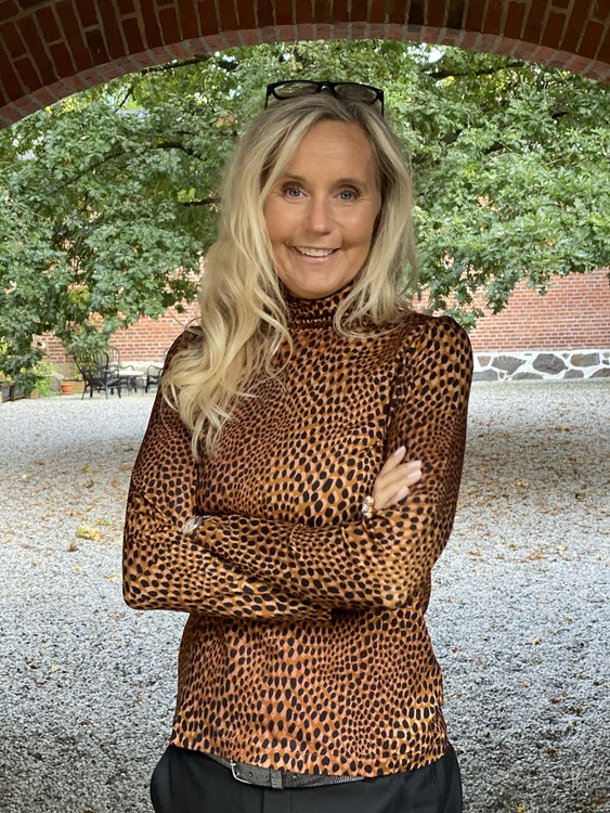 Guitare brunsvart leopard polo