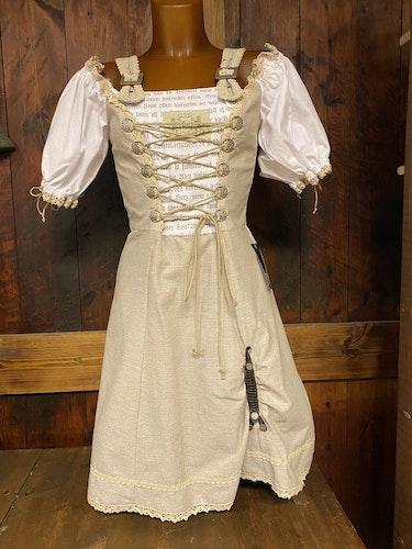 Linnefärgad klänning till Oktoberfesten