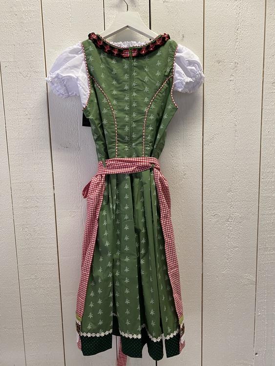 Röd/grön klänning till Oktoberfesten